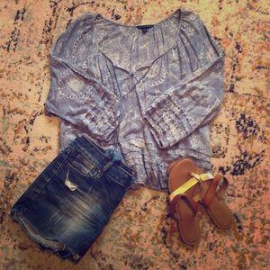 American Eagle paisley boho blouse. Size L